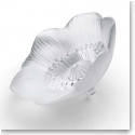 Lalique Crystal, Anemone Flower Sculpture, Clear