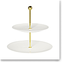 Villeroy and Boch MetroChic Blanc 2 Tier Server 10.75""