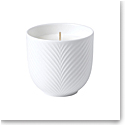 Wedgwood White Folia Candle, Bamboo and Green Tea