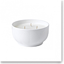Wedgwood White Folia Candle Three-Wick, Bamboo and Green Tea