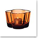 """Iittala Aalto Tealight Candleholder 2.25"""" Seville Orange"""