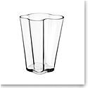 """Iittala Aalto Vase 10.5"""" Clear"""