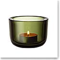 Iittala Valkea Tealight Candleholder Moss Green