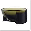 "Iittala Kuru Glass Bowl 5"" Moss Green"