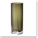 "Iittala Kuru Vase 10"" Frosted Moss Green"