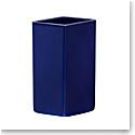 "Iittala Ruutu Ceramic Vase 7.25"" Dark Blue"