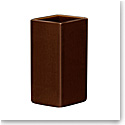 "Iittala Ruutu Ceramic Vase 7.25"" Brown"