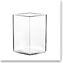 "Iittala Ruutu Vase 4.5"" Clear"
