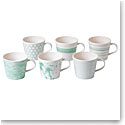 Royal Doulton Pacific Mint Accent Mug Set of Six
