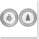"Wedgwood 2021 Winter White Salad Plate 8"" Pair"