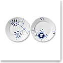 Royal Copenhagen Blue Fluted Mega Dessert Plates Pair Decor