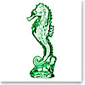 Waterford Seahorse Crystal Sculpture, Emerald Green