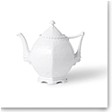 Royal Copenhagen White Fluted Full Lace Tea Pot 1 Qt