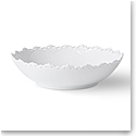 Royal Copenhagen White Fluted Full Lace Serving Bowl 1.5 Qt