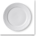 Royal Copenhagen White Fluted Full Lace Dinner Plate 10.75""