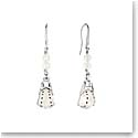 Lalique Crystal Icone Pierced Earrings, Silver