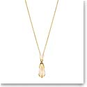 Lalique Sterling Silver Icone Pendant Necklace, Gold Vermeil