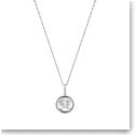 Lalique Crystal Le Baiser Pendant Necklace, Silver