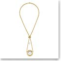 Lalique Crystal Le Baiser Necklace, Gold Vermeil