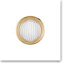 Lalique Crystal Vibrante Round Brooch, Gold Vermeil