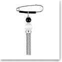 Lalique Crystal Vibrante Tassel Brooch, Silver