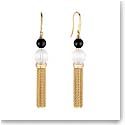 Lalique Crystal Vibrante Tassel Earrings, Gold Vermeil