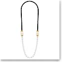 Lalique Crystal Vibrante Long Necklace, Gold Vermeil
