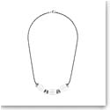 Lalique Crystal Vibrante Oval Necklace, Silver
