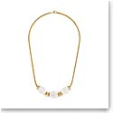 Lalique Crystal Vibrante Oval Necklace, Gold Vermeil