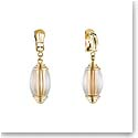 Lalique Vibrante Oval Clip Earrings, Gold Vermeil