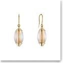 Lalique Vibrante Oval Pin Clasp Earrings, Gold Vermeil