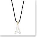 Lalique Tour Eiffel Pendant Necklace, Gold Vermeil