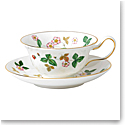 Wedgwood Wild Strawberry Teacup and Saucer Peony