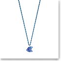 Lalique Crystal Poisson Fish Pendant Necklace, Blue Cap-Ferrat