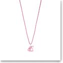Lalique Poisson Fish Pendant Necklace, Pink