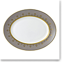 Wedgwood Anthemion Grey Oval Platter 13.75""