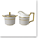 Wedgwood Anthemion Grey Cream and Sugar Set