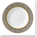 Wedgwood Anthemion Grey Rim Soup 9""