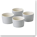 Royal Doulton Gordon Ramsay Maze Light Grey Ramekin Set of Four