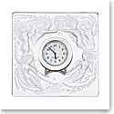 Lalique Crystal, Naiades Crystal Clock, Clear