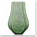 Lalique Crystal, Ombelles Crystal Vase, Green