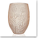 Lalique Ombelles Vase, Gold Luster, Medium