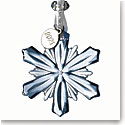 Waterford 2020 Mini Snowflake Ornament Topaz Ice