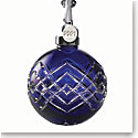 Waterford Cased Sapphire Ball 2021 Dated Ornament