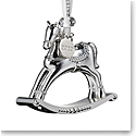 Waterford 2020 Silver Rocking Horse Ornament