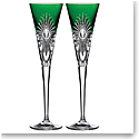 Waterford 2021 Times Square Emerald Flute Pair