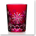 Waterford 2020 Snowflake Wishes Love Prestige Edition DOF Cranberry, Single