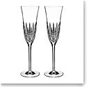 Waterford Crystal Lismore Diamond Essence Flute Pair