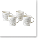 ED Ellen DeGeneres Royal Doulton Taupe Mug Set of 4 Mixed