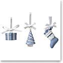 Wedgwood 2021 Festive Charm Ornaments, Set of 3
